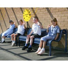 Junior Metal School Playground Bench