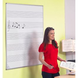 Wall Mounted Writing Board with Musical Staves