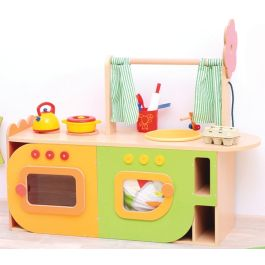All In One Wooden Play Kitchen