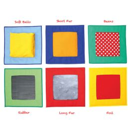 Children's Sensory Textured Stepping Stone Squares - Pack of 6