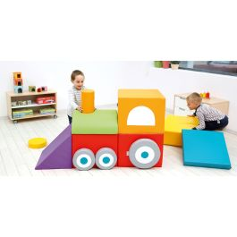 Soft Play Foam Locomotive - 15 Piece Set