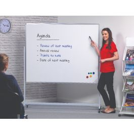 Magnetic Double Sided Mobile Whiteboard - Landscape