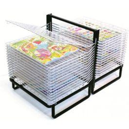 30 Shelf Spring Loaded Art Drying Rack