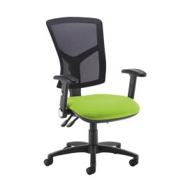 Senza High Mesh Back Operator Chair with Folding Arms
