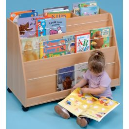 Double Sided Mobile Bookcase
