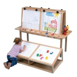 Wooden Four Person Art Easel