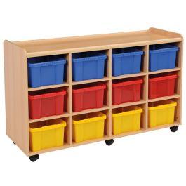 SSS 12 Deep Strata Tray Classroom Storage Unit