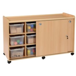 SSS 12 Deep Tray Classroom Stoarage Unit with Sliding Doors