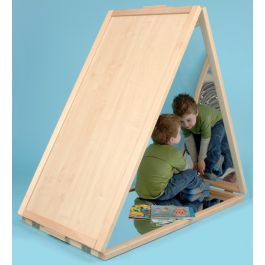 Giant Sensory Triangular Floor Mirror