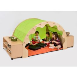 Play Pod with Bookcases Cushions and Canopy