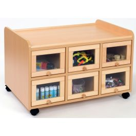 Double Sided Classroom Resource Storage Unit with Doors