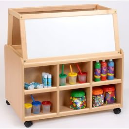 Classroom Resource Unit with Drywipe Easel