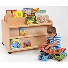 Double Sided Children's Book Display and Storage Unit
