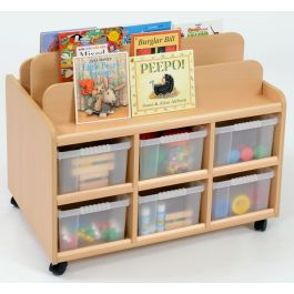 Double Sided Book Display with Trays