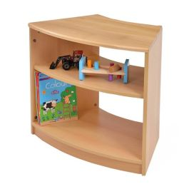 RS Curve Early Years Wooden Storage Book Shelves