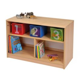 RS Open Children's Bookcase with Inset Panel - Plain and Mirror