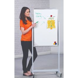 Magnetic Double Sided Mobile Whiteboard - Portrait