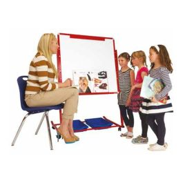Little Rainbows Mobile Magnetic Storage Easel, Double Sided