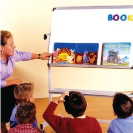 Mobile Tilt-n-Teach, Non Magnetic Rotating Whiteboard