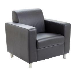 Iceberg Leather Faced Reception Armchair