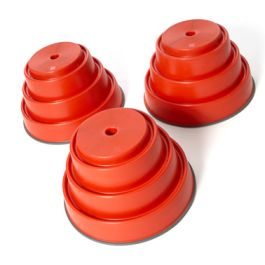 Build and Balance Large Red Tops - Pack of 3