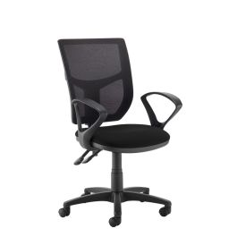 Altino Twin Lever Mesh High Back Operator Chair with Fixed Arms