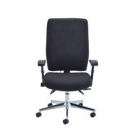 Caracal Fabric 8HR Task Chair with Adjustable Arms