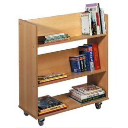 Single Sided Mobile Book Trolley