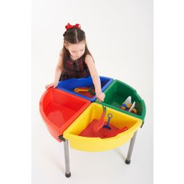 Children's Sand and Water Exploration Circle - Multi Colour Trays with Cover