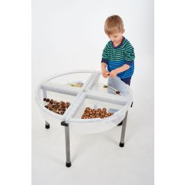 Sand and Water Exploration Circle with Clear Trays
