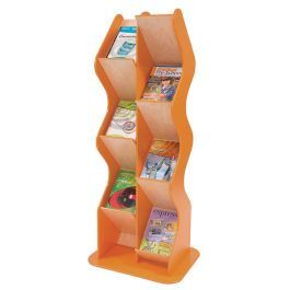 Colourama Freestanding Wave Book and Brochure Dispenser