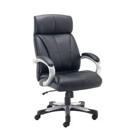 Cronos Heavy Duty Executive Chair - Black Leather