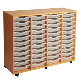Quadruple Column 44 Tray Storage Unit