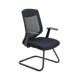 Vogue Medium Back Cantilever Chair - Black