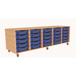 Quintuple Column 25 Tray Storage Unit