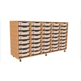Quintuple Column 40 Tray Storage Unit