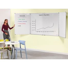 Spacesaving Non-Magnetic Folding Whiteboards