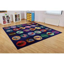 Mini Beasts Classroom Carpet