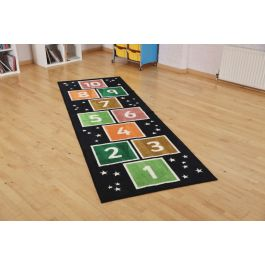 Number Hopsotch Runner Classroom Carpet