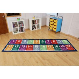 Number 1 to 20 Runner Classroom Carpet