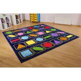 Geometric Shapes Classroom Carpet