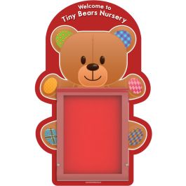 WeatherShield Outdoor Wall Mounted Teddy Bear Welcome Sign