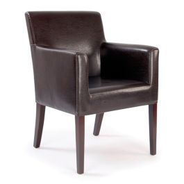 Metro Leather Effect Reception Armchair