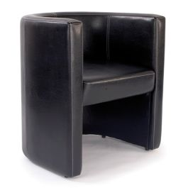 Roma Reception Leather Effect Tub Chair