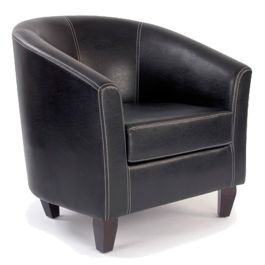 Leather Effect Single Seat Tub Chair