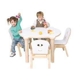 Alps Early Years Rounded Maple Table