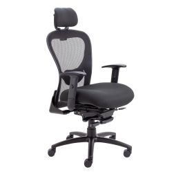 Strata 24 Hour High Back Chair With Seat Slide - Black