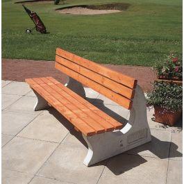 Heavy Duty Concrete & Wood Park Bench