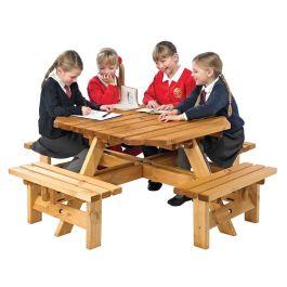 Children's Octagonal Wooden Picnic Bench
