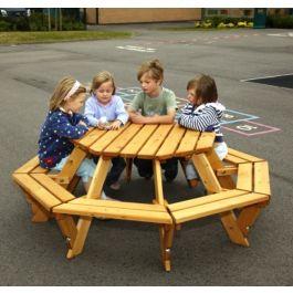 Children's Wooden Octagonal Picnic Bench
